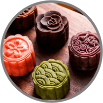 Color moon cakes